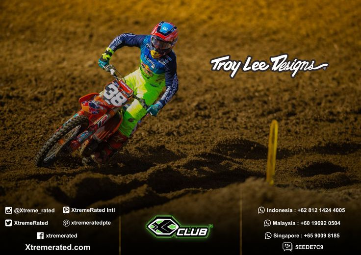 You don't have to be one of the World's Fastest Racers to get your apparel like a pro. Troy Lee Designs MX18 Collections available now in all XClub Leading Stores.   #xtremerated #xclub #mx #troyleedesigns #tldmx #moto