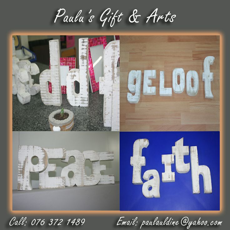 Wooden letter and words are the latest decor trend! Come and join the trend with us! We have wooden letter in our store at the Diaz Convenience Market.  #Gifts #Art #Crafts