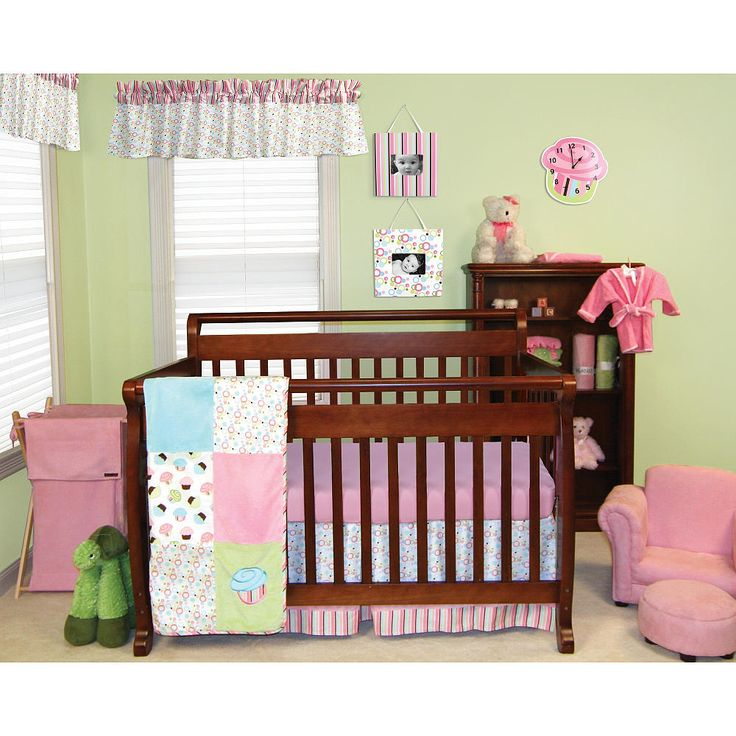 trend lab cupcake 6 piece crib bedding set pink trend lab babies r us cupcake nursery. Black Bedroom Furniture Sets. Home Design Ideas