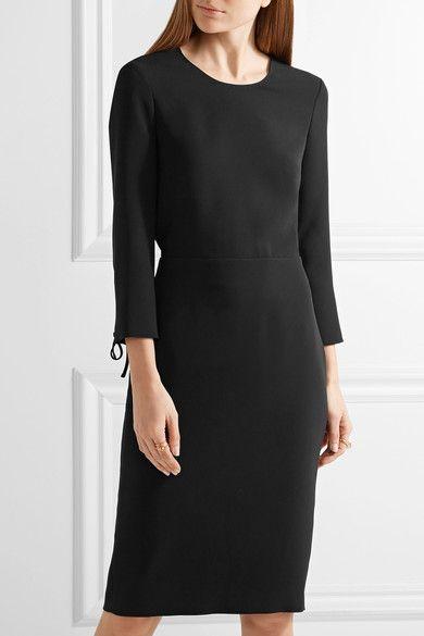 Max Mara - Open-back Crepe Dress - Black - UK14