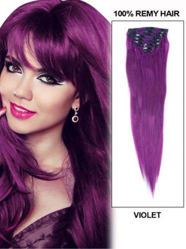 60 best hair extensions images on pinterest remy human hair hairthy 7 piece violet silky straight clip in indian remy hair human extension pmusecretfo Gallery