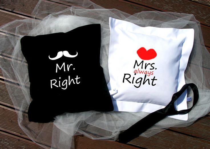 Poszewki+Mrs&Mr++w+SzyteMalowane+na+DaWanda.com