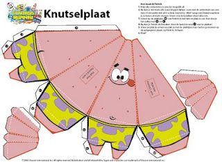 Spongebob Squarepants Patrick Star Paper Crafts Paper