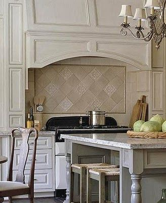 Beautiful backsplash above the cooktop i like the definition it gets compared to the rest of - Stunning backsplash designs for behind ranges ...