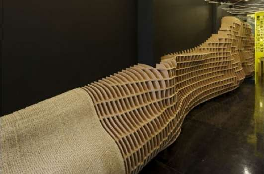 a reminder of the possibilities with corrugated cardboard