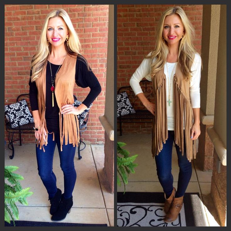 "19 Likes, 4 Comments - The Edge Boutique (@theedgeboutiqueoakgrove) on Instagram: ""#fringe #vest"""
