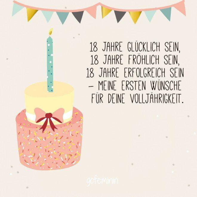 18 Geburtstag Die Besten Spruche Und Gluckwunsche Spruche 18