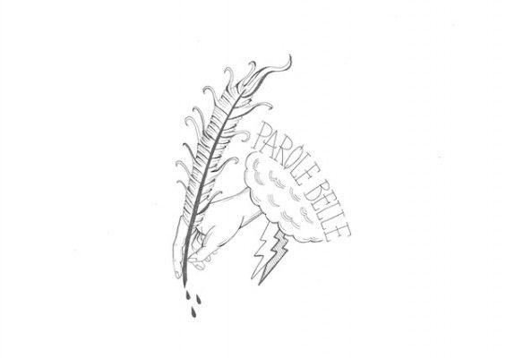 """La cover della rubrica """"PAROLE BELLE"""" è un' Illustrazione di Federica Aradelli"""