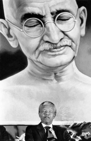 Gandhi + Nelson Mandela