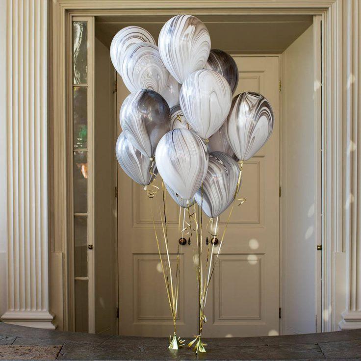 Marble Monochrome Balloon Pack