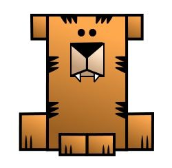 Nice cartoon tiger! Nice! ... I said nice! :)