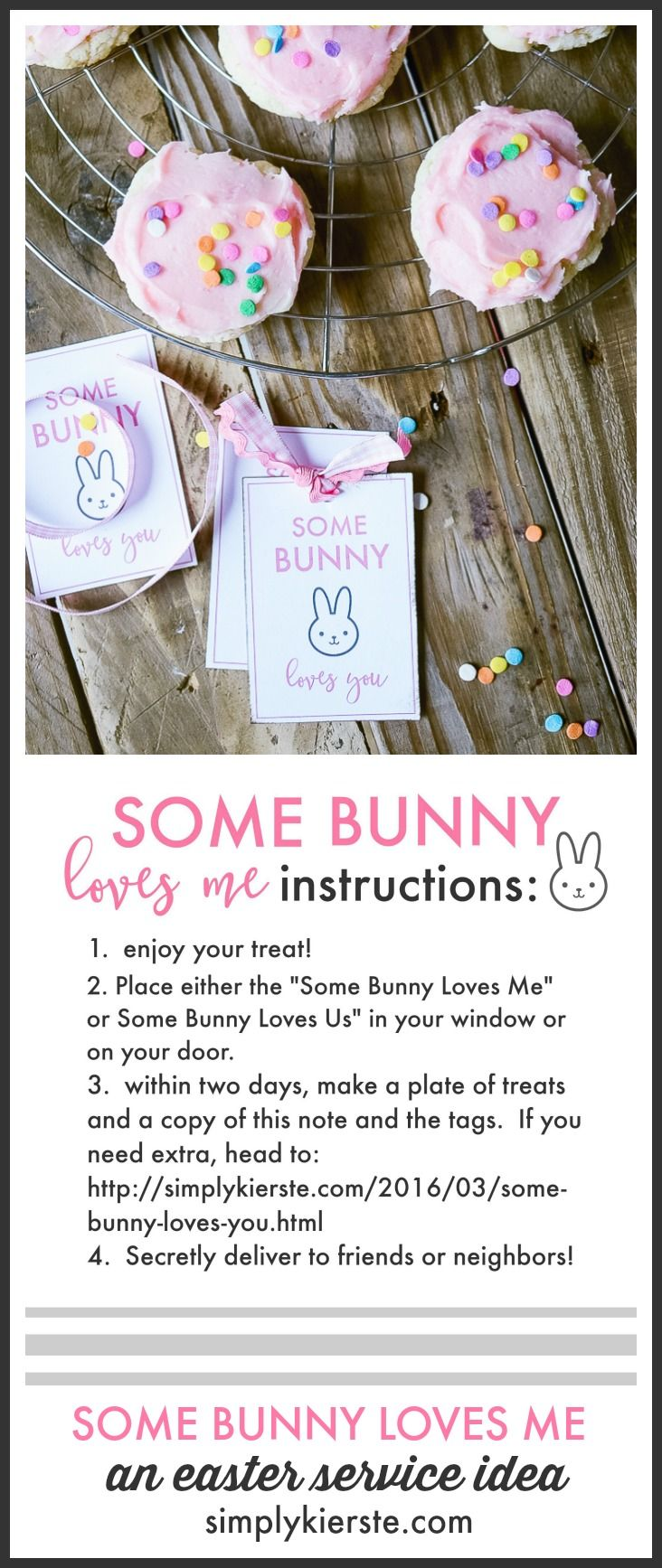 These darling Easter printables are perfect for attaching to yummy treats and then surprising friends and neighbors! Fun Easter service idea for families!