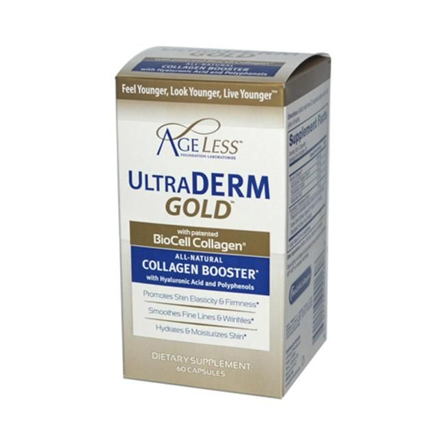 Ageless Foundation Ultraderm Gold 60 Caps Anti Aging