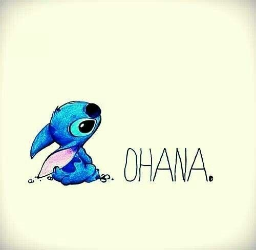 "Ohana means ""Family"" Family means nobody gets left behind, or forgotten. <3 <3 <3"