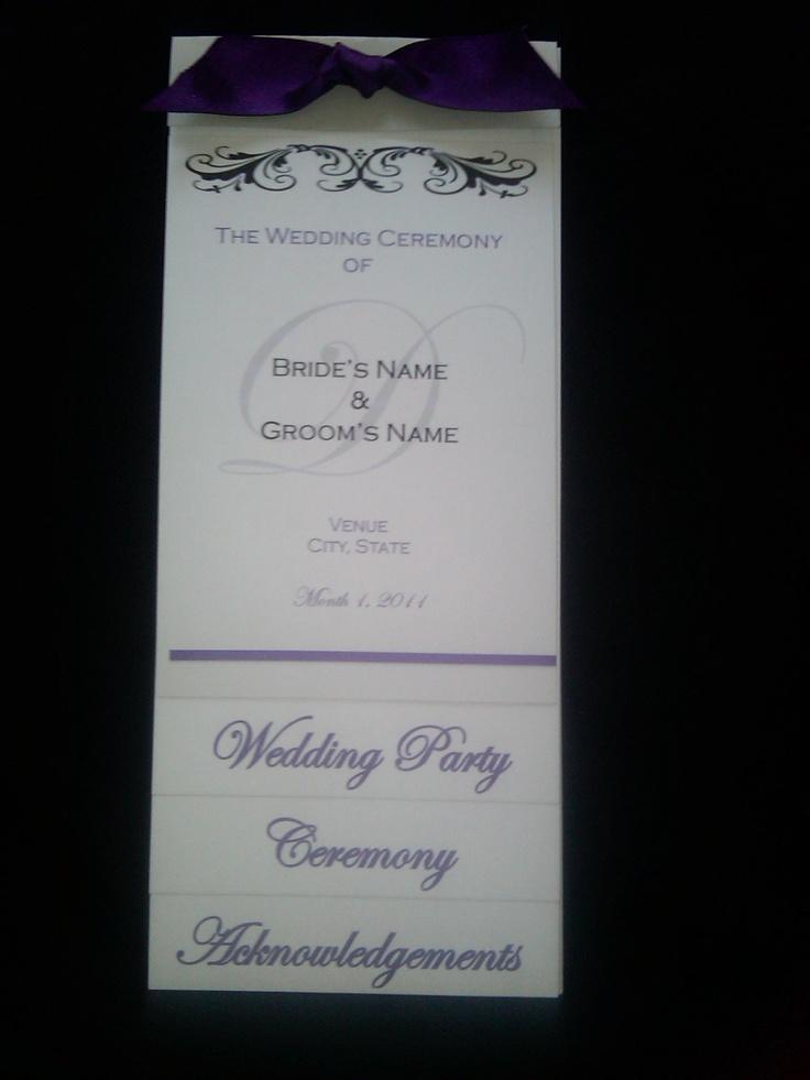 17 best images about wedding program thank you sample wording on pinterest