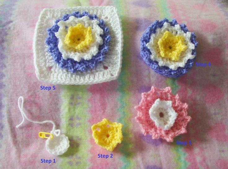 Arise and Shine, free crochet pattern flower square