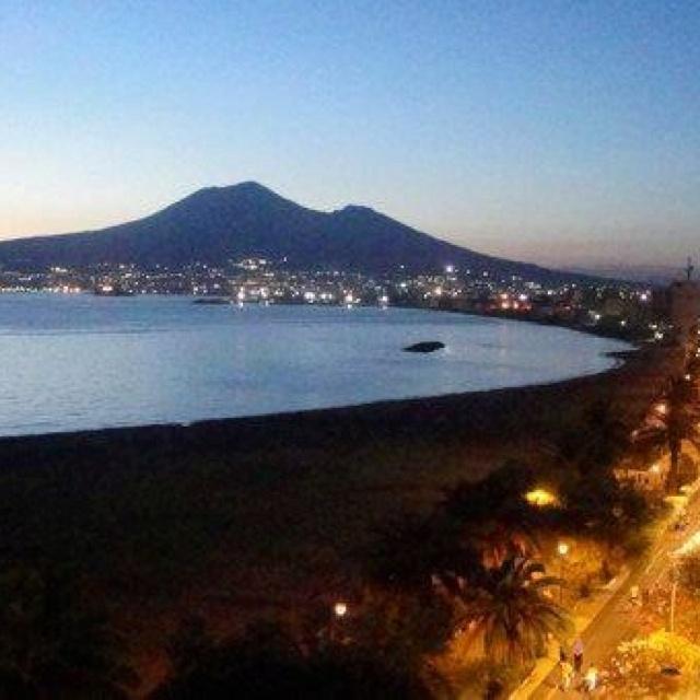 View of Castellammare di Stabia near Naples