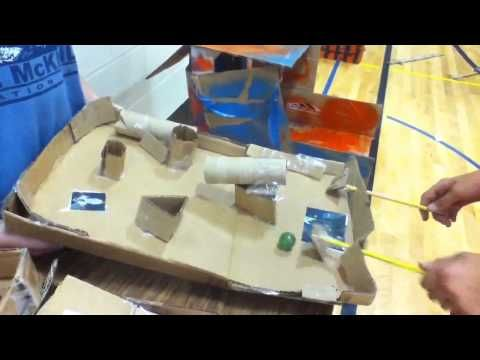 Get Inspired: Cardboard Challenge in a School Gym, shot by a student (lots of close-ups of great projects!)