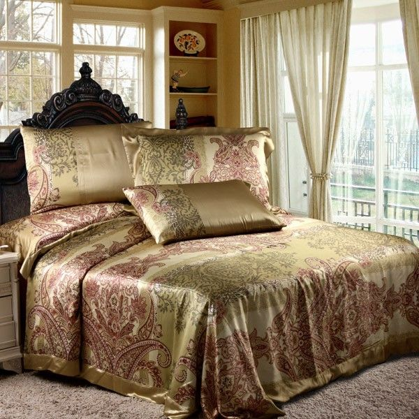 50 best luxury silk bedding images on Pinterest