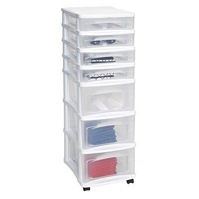 Bella Storage Solutions 7 Drawer Plastic Cart At Big Lots