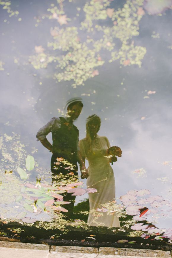 A swoon-worthy wedding shot from a dreamy English wedding.: Ideas Wedding, Romantic Wedding, Wedding Shot, Water Ponds, Reflection Photos, Wedding Blog, Pics Ideas, Wedding Photos, Dreamy English