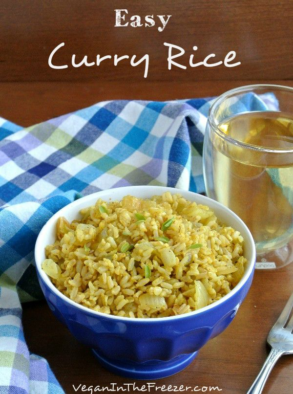 Easy Curry Rice is not only a delicious side dish but it can be the centerpiece for ethnic side dishes with a Middle Eastern or Asian flare.