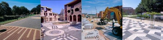Infra bestrating.. Hier een voorbeeld wat je allemaal met betonklinkers kan creëren.