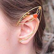 Купить или заказать Эльфийские ушки 'Lucky' в интернет-магазине на Ярмарке Мастеров. Под конец Ирландской недели самое время для ушек с клеверами. Лесные, легкие... в общем, идеальные такие для эльфа уши. В работе используются как натуральные камушки, так и стекло.