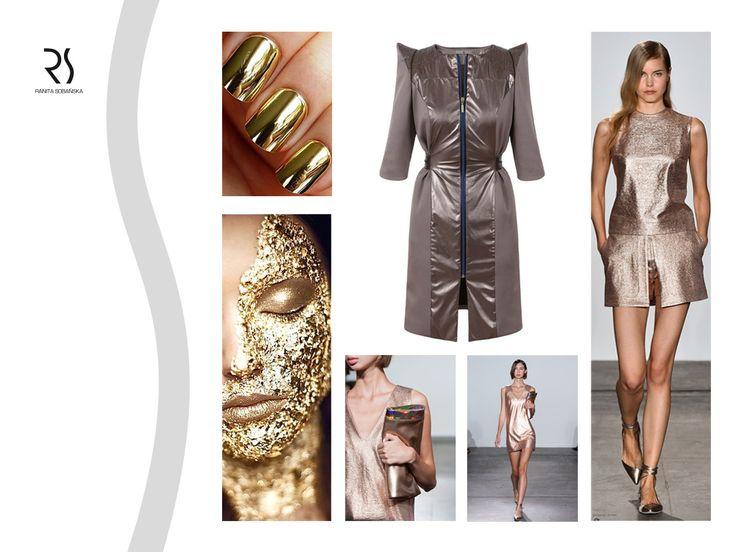 dress - Ranita Sobanska  #rs #moodboard #fashion #ReadyToWear #PolishFashionDesigner #FashionDesigner #designer #sportfashion #ModaPolska #PolscyProjektanci #gold #metallic #dress