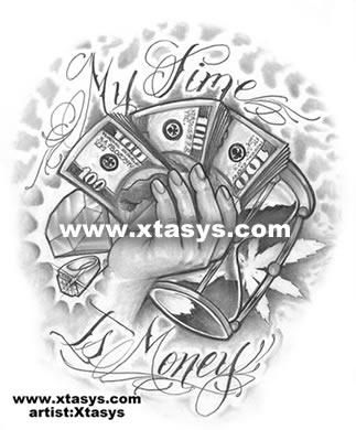 Get Money Tattoos Designs Money tattoo flash art money ...