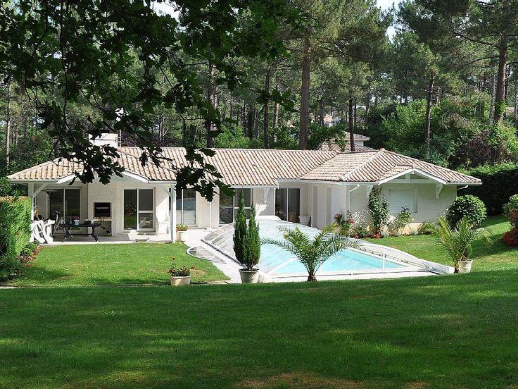 Abritel location villa à Biscarrosse Plage. Biscarrosse-golf:Villa avec jardin, piscine au sel chauffée toute l 'année