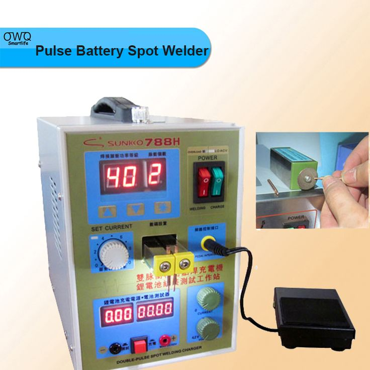 1PC Pulse Battery Spot Welder 788H(788+)Welding Machine Micro-computer Battery Charger 800 A0.1 - 1.0mm 36V