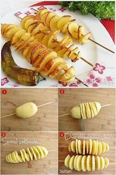 * brochettes de pomme de terre *