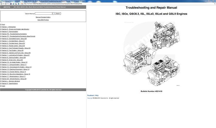 Cummins Troubleshooting and Repair Manual ISC, ISCe, QSC8