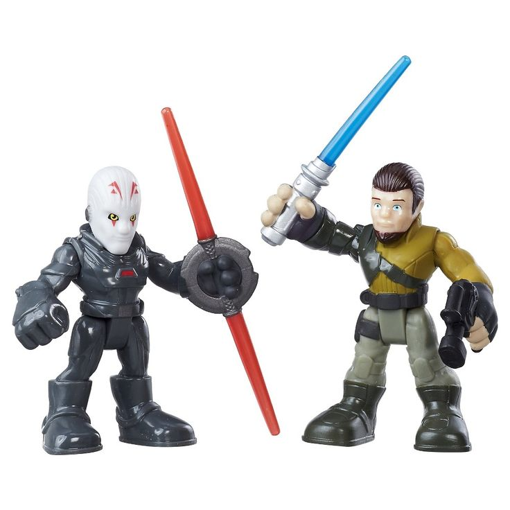 Playskool Heroes Star Wars Galactic Heroes Kanan Jarrus and The Inquisitor
