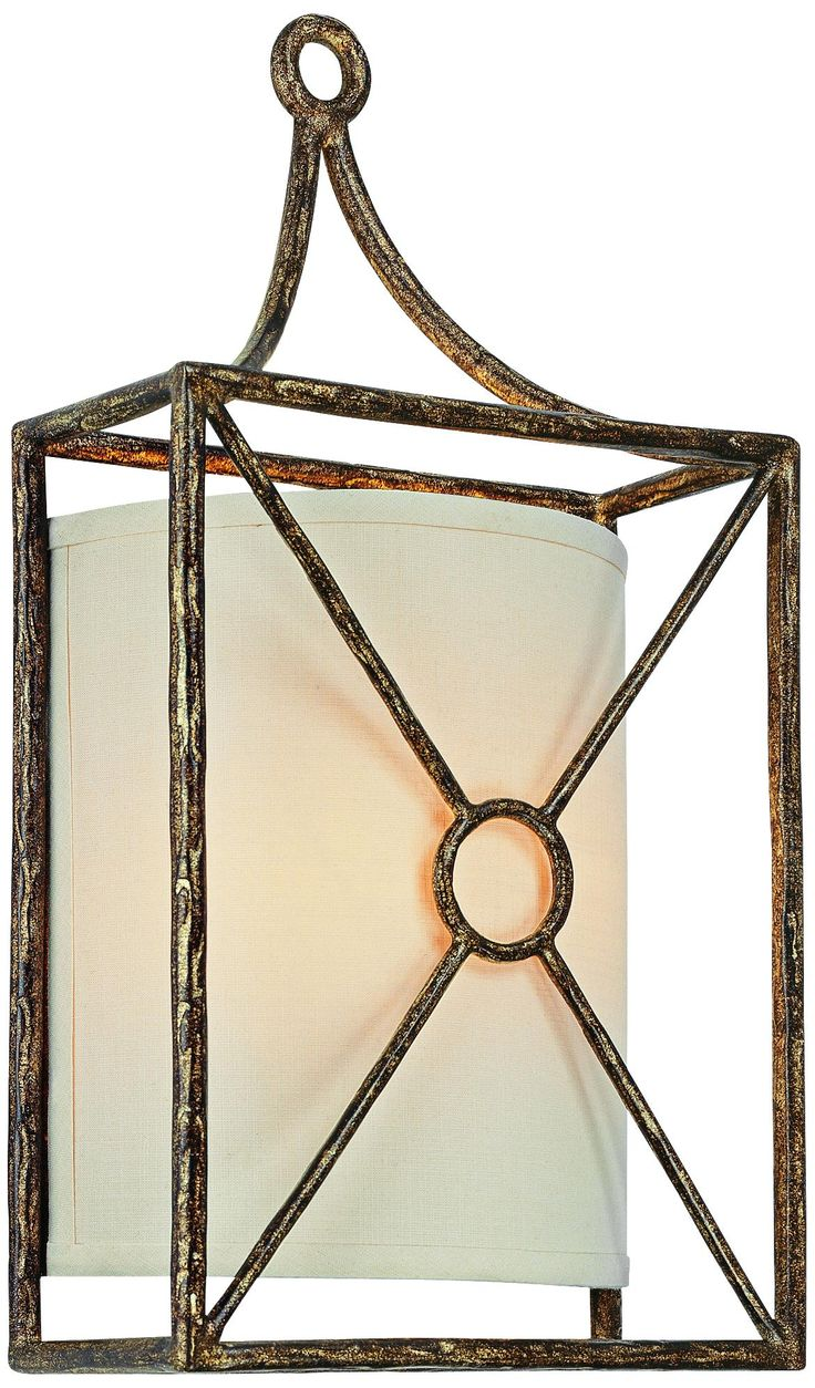 """Maidstone Collection 17"""" High Bronze Leaf Sconce"""