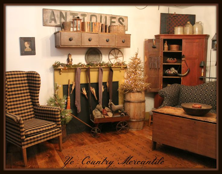 452 best images about primitive and colonial living rooms for Primitive country living room ideas