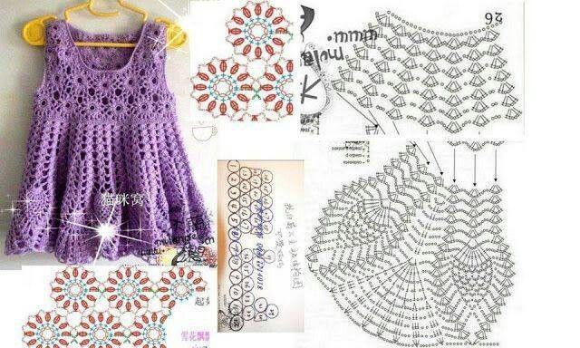 .Little Girl Crochet Dress