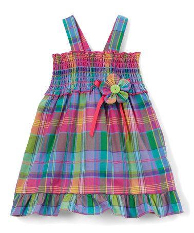 Blue & Pink Plaid Sundress - Infant, Toddler & Girls