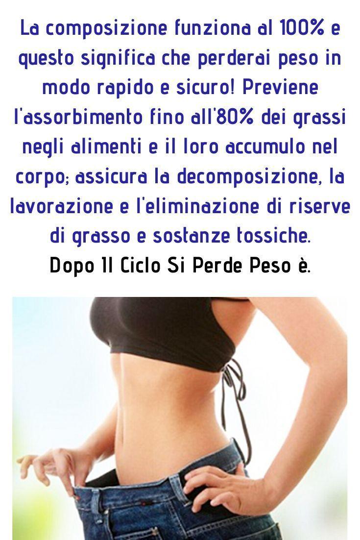modo sicuro per perdere peso rapidamente