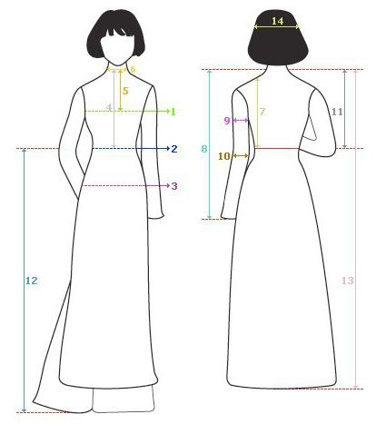 How To Measure For Ao Dai                                                                                                                                                     More
