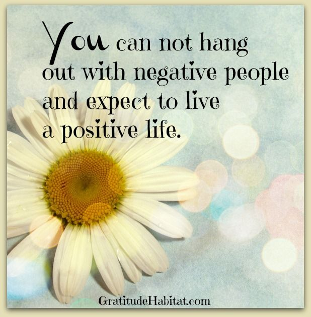 Hang out with positive people. #positive-people #inspirational-quote  Visit us at:  www.GratitudeHabitat.com