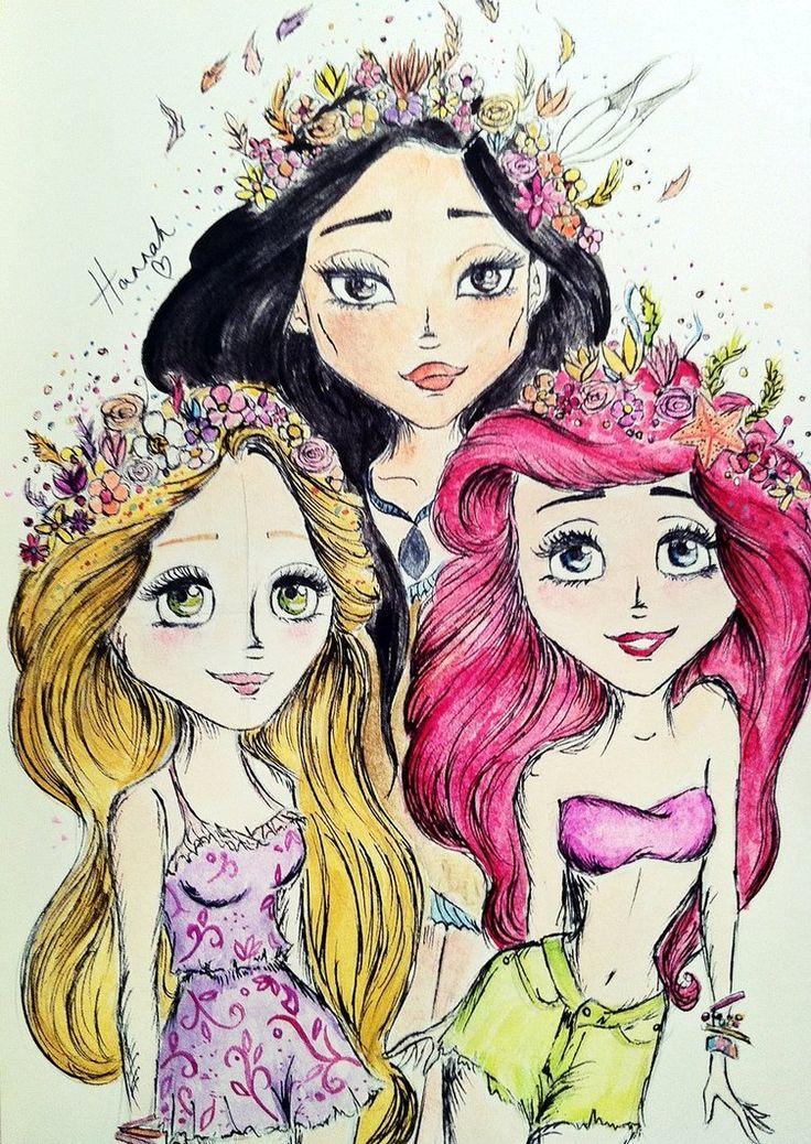 Hipster Princesses by ~jacobgirl123 on deviantART