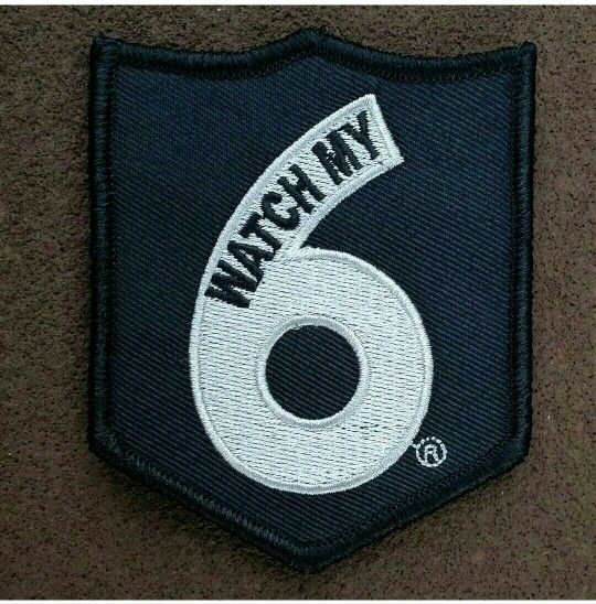 """""""Watch My 6"""" morale patch! (Silver: Corrections)  Officially licensed by Watch My 6  In our store: Www.Zombietacticalcord.com  #zombietacticalcord #morale #patch #WatchMy6 #corrections"""