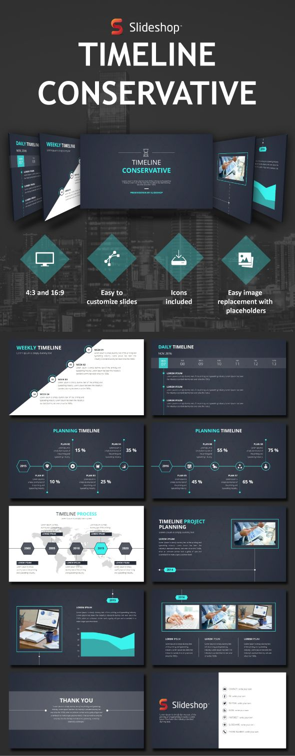 Timeline Conservative - PowerPoint Templates Presentation Templates
