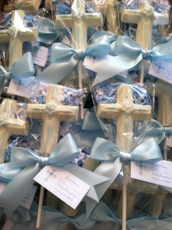Chocolate Cross Lollipop Boy Communion Favors…