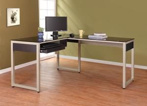 L Shape Computer Desk in Champagne Finish 4867  By Homelegance