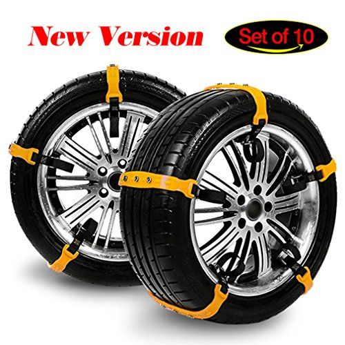 Snow Chains for SUV, Winter Tire Chains for Trucks Emergency Tire Chain Snow Chain with Adjustable Tension Straps of SUV, Car Set of 10 Winter Driving Security Chains Tire Width:185-295mm/7.2-11.6in. For product info go to:  https://www.caraccessoriesonlinemarket.com/snow-chains-for-suv-winter-tire-chains-for-trucks-emergency-tire-chain-snow-chain-with-adjustable-tension-straps-of-suv-car-set-of-10-winter-driving-security-chains-tire-width185-295mm%ef%bc%8f7-2/