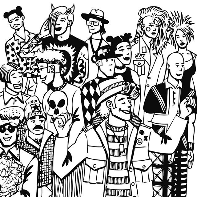 RAVERS  #ARTWORK #DESSIN #DRAWING #GRAPHISM #ILLUSTRATION #BW #ART #LINEWORK #ALTERNATIF #LOGO #PORTRAIT #DJ #TECHNO #RAVE #FUN #MUSIC  #ACIDHOUSE #ACID #XTC #DANCE #PARTY #PEOPLE #1990'S
