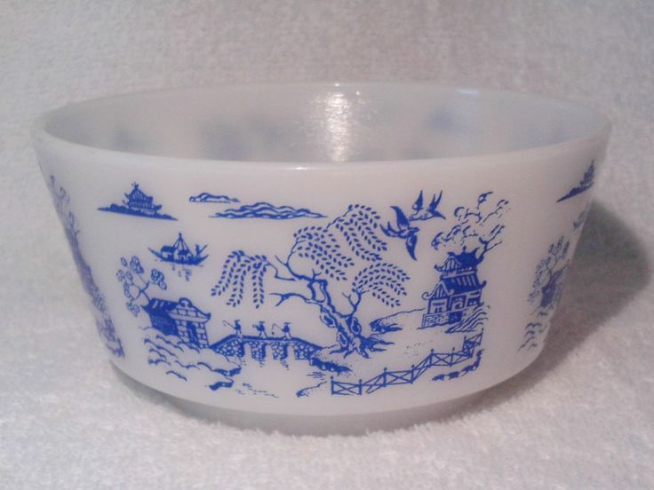 Vintage Hazel Atlas Blue Willow Bowl Cottage Cheese Utility Cereal #HazelAtlas **SOLD**